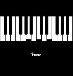 Music background with piano keys piano keys in vector