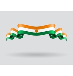 Niger wavy flag vector