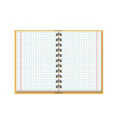 notebook checked school paper vector image