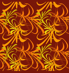 pattern of yellow and orange lines and vector image