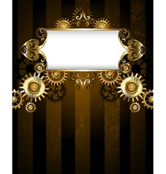 Patterned Banner with Gears vector