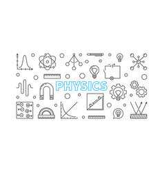 Physics horizontal banner science vector