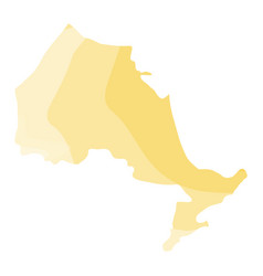 Political map of ontario vector