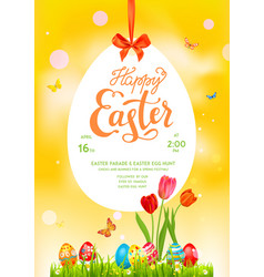 Poster yellow holiday easter vector