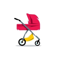 Pram Baby Carriage Cartoon vector image