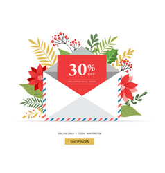 Promo christmas new year banner sale poster and vector
