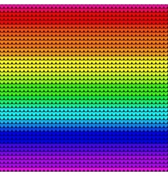 Rainbow colors seamless knitted background vector