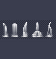 realistic cascade waterfall 3d liquid flowing vector image
