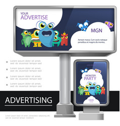 realistic outdoor advertising template vector image
