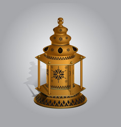 realistic ramadan lamp or lantern mock up vector image