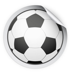round sticker with football ball vector image