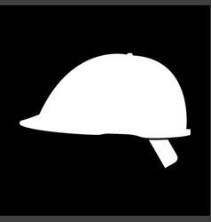 safety helmet the white color icon vector image