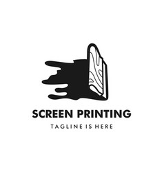 Screen printing silk screenprinting logo vector