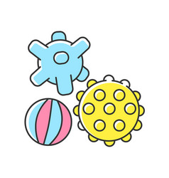 Sensory balls rgb color icon vector