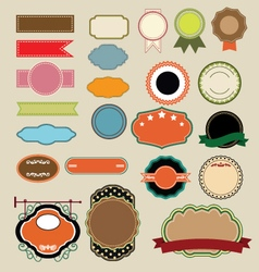 set of blank labels template vector image