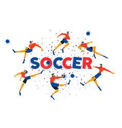 soccer game team poster for celebration match vector image