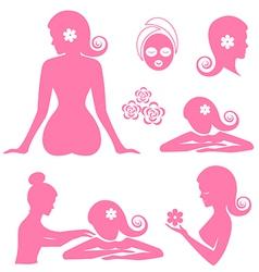 Spa woman set vector image