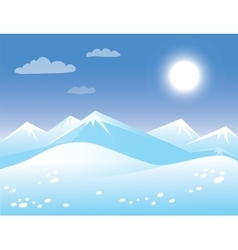 Spring arctic sunny landscape vector