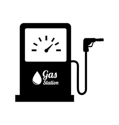 Station gasoline pump oil design vector