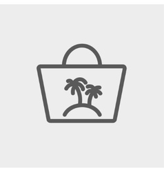 Summer bag thin line icon vector