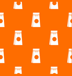 tea packed in a paper bag pattern seamless vector image