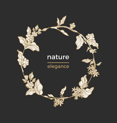 template nature circle vector image