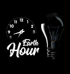 the earth hour is an international action calling vector image