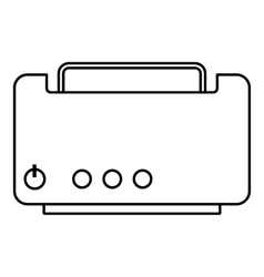Toaster icon outline style vector