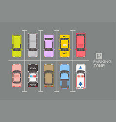 Top view of parking zone vector
