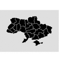 ukraine map - high detailed black map with vector image