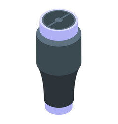 Water thermo cup icon isometric style vector