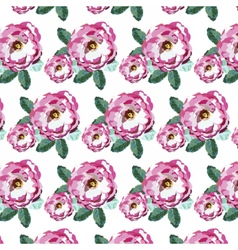 Watercolor Pink Roses pattern vector image