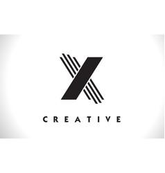 X logo letter with black lines design line letter vector