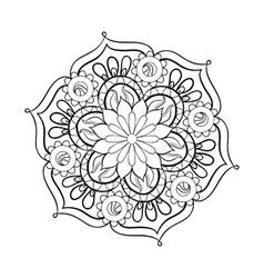 Zentangle stylized elegant black Mandala for vector