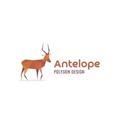 Antelope African isolated faces polygons style vector image