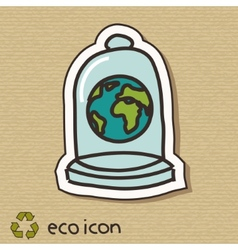 Eco concept on cardboard vector image