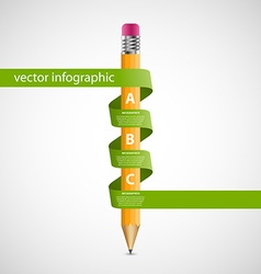 Education Infographics design template Pencil vector image