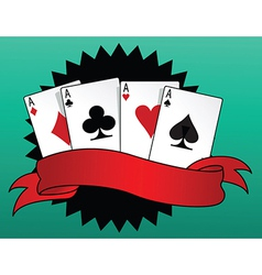Game of cards vector image vector image