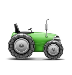 Green Agricultural Tractor vector image vector image