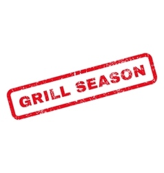 Grill season text rubber stamp vector