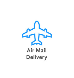 simple air mail delivery logo on white vector image
