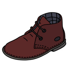 dark red suede shoe vector image