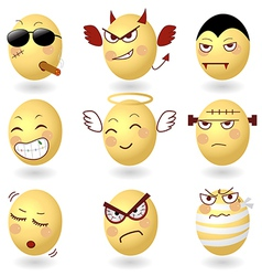 Eggs Emotions Set2 vector image vector image