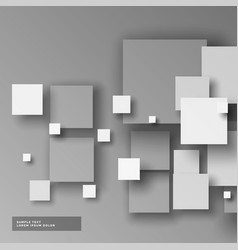 Elegant gray 3d squares mosaic background vector