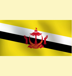 flag of brunei - vector image vector image