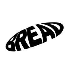 Monochrome bread stylized a silhouette with the vector image vector image