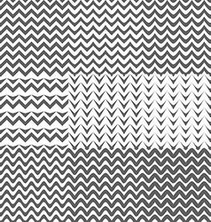 Set of Zig Zag Patterns Background vector image