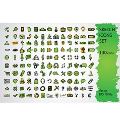 Sketched icon set vector image vector image