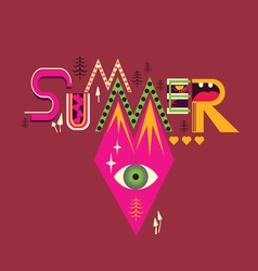 SUMMER art poster vector image vector image