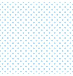 Blue polka dots on white background tile pattern vector image